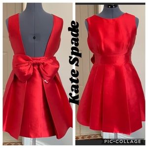 ❤️NWOT Kate Spade Holliday Red Dress W/Bow